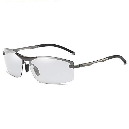 KYS Photochrome Sonnenbrillen mit polarisierter klassischer quadratischer Sonnenbrille für 100% UV-Schutz im Freien Unisex (Color : Chrome)