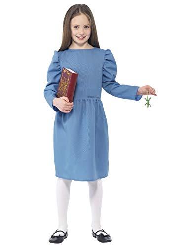 Roald Dahl Kostüm, Roald Dahl, für Erwachsene, Kostüm, Kostüm, Kostümparty - wählen Sie Ihre Figur - Helfen Sie Kinder-Wohltätigkeitsorganisation, Matilda-Kostüm 27144, Kinder im Alter von 7-9 - Roald Dahl Matilda Kostüm