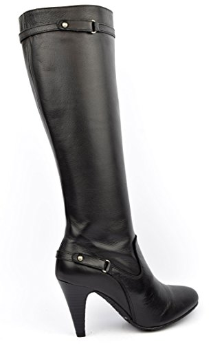 YVES DE BEAUMOND - Bottes cuir vieilli noir, Socca Noir