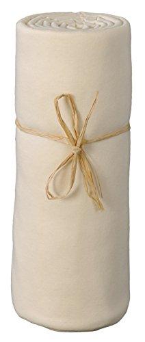 P\'tit Basile Drap housse jersey coton Bio extensible pour berceau ou nacelle, 40x80 cm, coloris écru