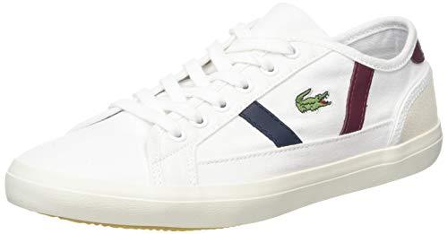 Lacoste Sideline 319 2 Cfa, Zapatillas para Mujer, Blanco White/Dark Red/Navy 222, 41 EU