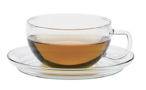 Trendglas Jena Klassische Teetasse MIKO 6er-SET mit Glasunterteller, 0,2 l