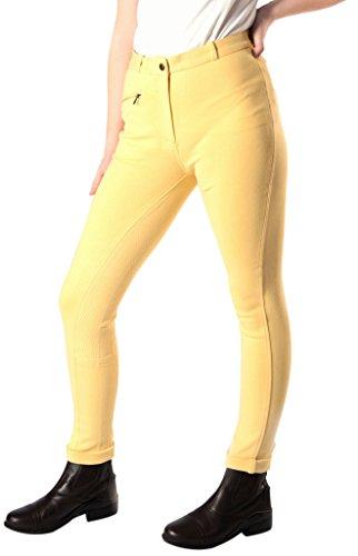 Equine-by-Design Mädchen Pimple Seat Sticky Bum Jodhpurhose, Canary Yellow, L Preisvergleich