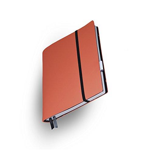 Whitebook–iPad 2/3–Das Notizbuch handgefertigt und Leder Schutzhülle oben