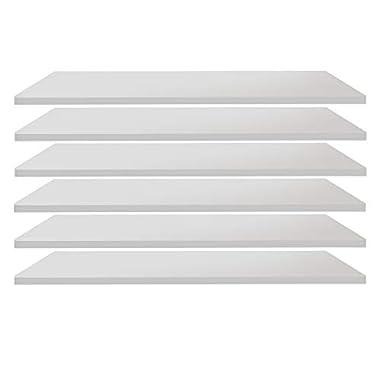 trendteam Garderobe Einlegeböden, 6er Set Garderobenschrank breit Ole, 82 x 1,5 x 33 cm, weiß