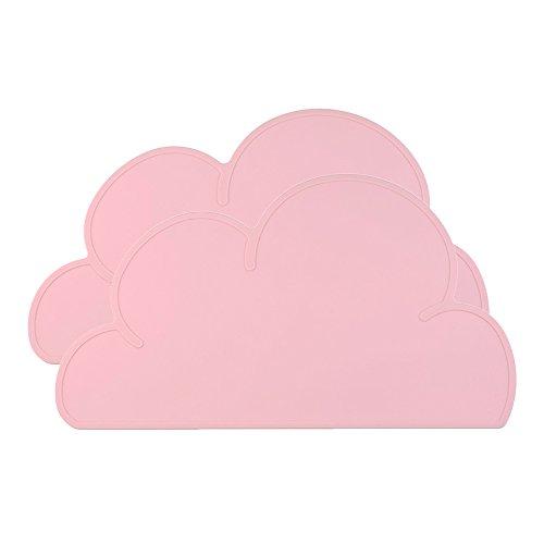 Wasserdicht Silikon Cloud geformtes Tisch-Sets Baby Kinder Geschirr Tisch Matte, 2Stück rose (In Pink Sicherheits-brille)