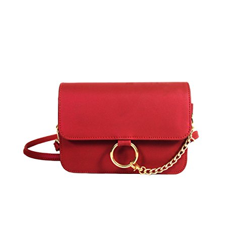 FZHLY Piccolo Paillettes Freschi Catena Piccolo Anello Di Modo Satchel Shoulder Bag,Grey Red