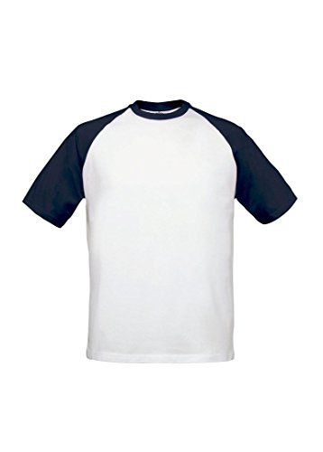 B & C Collection B & C base-ball Mehrfarbig - White/ Navy