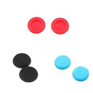 MagiDeal 3 Paar Thumbstick Kappen Silikon Joystick Kappe für Nintendo Switch Controller Videospiel Zubehör