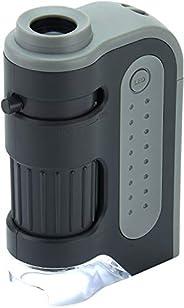 Carson MicroBrite Plus microscope de poche avec fonction éclairage par LED, 60-120x (MM-300)
