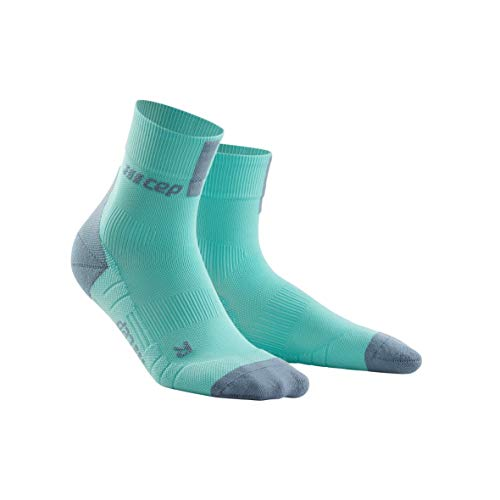 CEP - Short Socks 3.0 | Sportsocken für Damen | hellblau/grau in Größe III | Funktionssocken für mehr Power