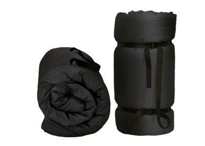 Tragbare Futon Schwarz, 200x140x4 cm