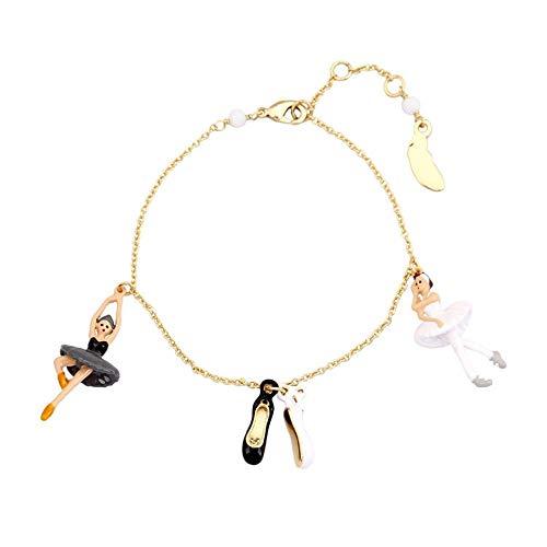 HAOHAO Französisch Double Swan Lake Ballett Mädchen Serie Painted Schuhe Armband Bernstein überzogene Feder Schmuck Ornament - Französische Ballett Kostüm