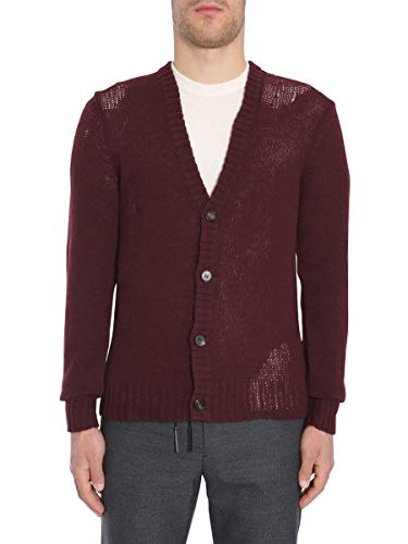 Maison Margiela Herren S50ha0743s16009359 Bordeauxrot Wolle Strickjacke
