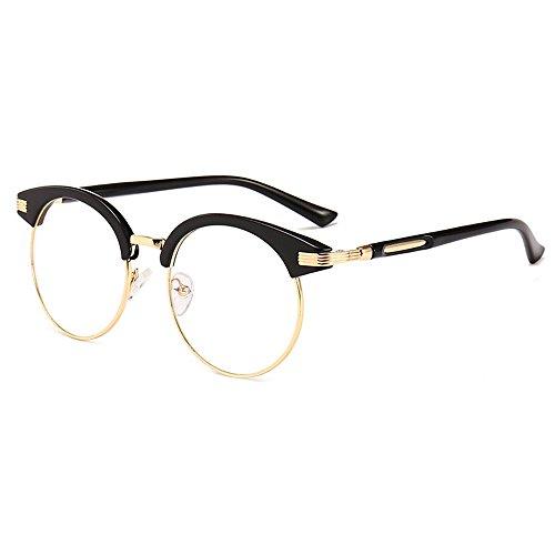 Sunglasses Plain Eyeglasses Big Round Frame Myopia Retro Glasses Frame Art Personality Round Rrame Rlat Mirror