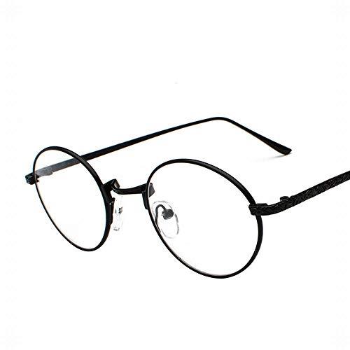 Yiph-Sunglass Sonnenbrillen Mode Damenmode Round Metal Carved Full Frame Brillen. (Farbe : Schwarz)