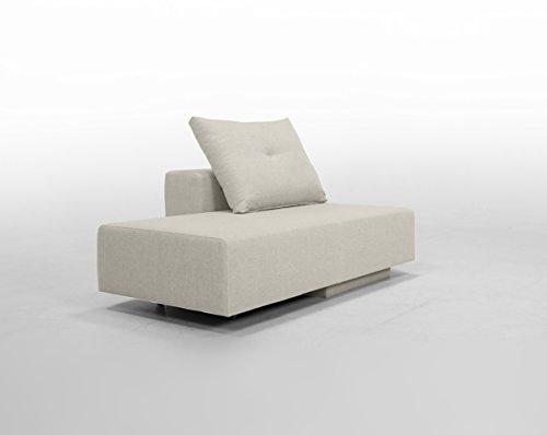 Minisofa BonBon2 - kleines Sofa Recamiere Schlafsofa - pflegeleichter weicher Mikrofaserstoff, Kissen im Lieferumfang enthalten (Honig)
