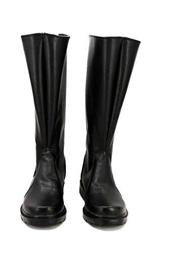 Fuman Star Wars Imperium Marine Stiefel Karneval Schuhe cosplay Boots Herren Schwarz 46 (Stiefel Vader Darth)