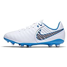 Nike JR Legend 7 Academy FG – White/mtlc Cool Grey de Blue Hero,