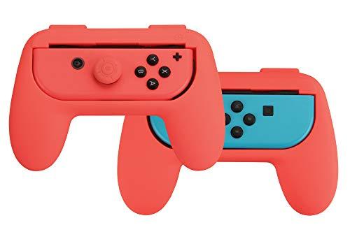 AmazonBasics Kit di impugnature per controller Joy Con Nintendo Switch Rosso