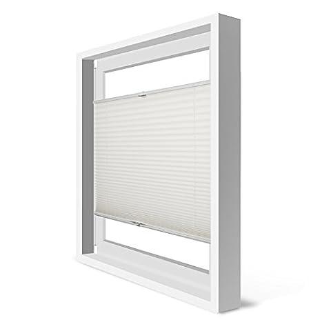 Plissee Klemmfix Verdunkelung Beige Jalousien Innen Ohne Bohren Rollos Für Fenster 70x130cm