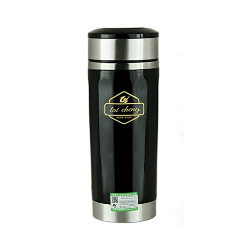 Voiture électrique bouilloire 360 ml 12 v voiture intelligente bouilloire électrique portable noir or en acier inoxydable tasse ( Color : Black )