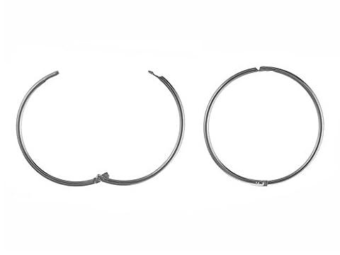 14mm, uni, Scharnier Sleeper Hoop Ohrringe–925Sterling Silber–Lieferung in gratis Geschenkbox/Geschenkbeutel