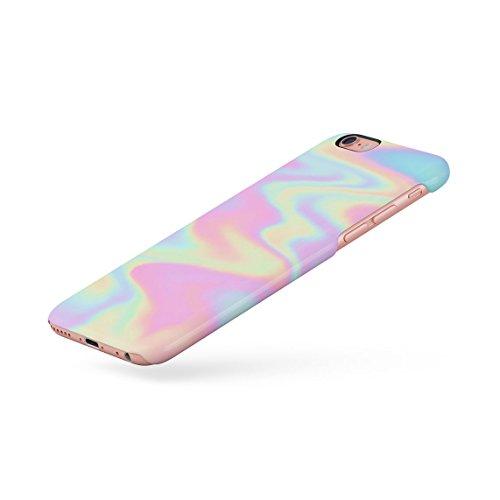 Regenbogen Hippie Holographic Print Pastel Acid Trippy Marmor Dünne Rückschale aus Hartplastik für iPhone 7 & iPhone 8 Handy Hülle Schutzhülle Slim Fit Case cover Colourful Pastel