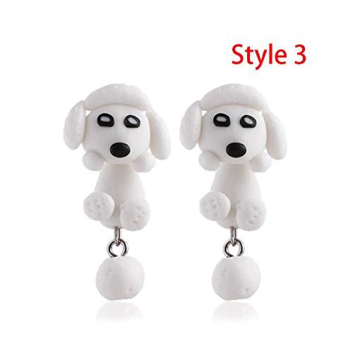 AIERSHI Mode Handgemachte Polymer Clay Ohrstecker Niedlichen Hund Ohrringe Für Frauen Cartoon Tier Piercing Ohrstecker Ohrring Schmuck Geschenk -