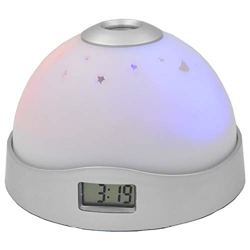 TBY Projektionswecker, digitaler Wecker, buntes Sternenlicht Projektions-Digitaluhr-LED-Nachtlicht für Kinder Baby Schlafzimmer
