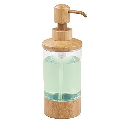 mDesign Distributeur de savon à pression rechargeable – flacon en