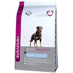 Eukanuba Premium Hundefutter für Rottweiler, Trockenfutter mit Huhn (1 x 12 kg)