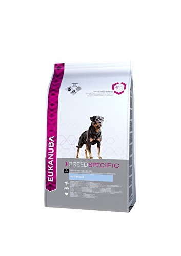 EUKANUBA Dog Dry Breed Specific All Rottweiler Chicken Bag Comida para Perros -...