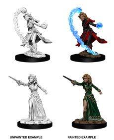 Pathfinder Deep Cuts Unpainted Minis: Female Human Wizard