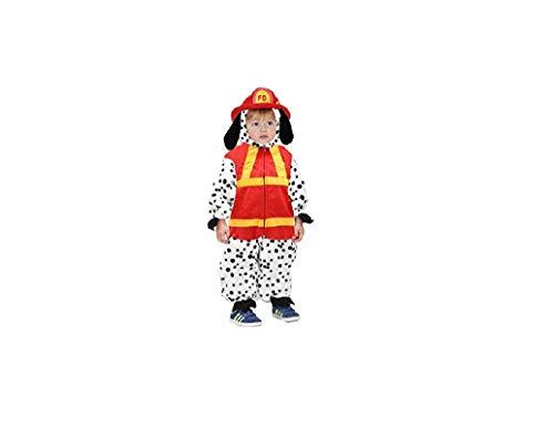 Costume bambino cane pompiere per carnevale 4/5 anni tg.4 83 cm