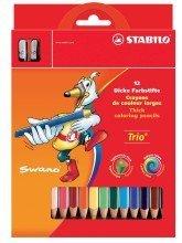 Stabilo© Dreikant-Buntstift Trio©, dick, Kartonetui mit 12 Stiften und 1 Spitzer