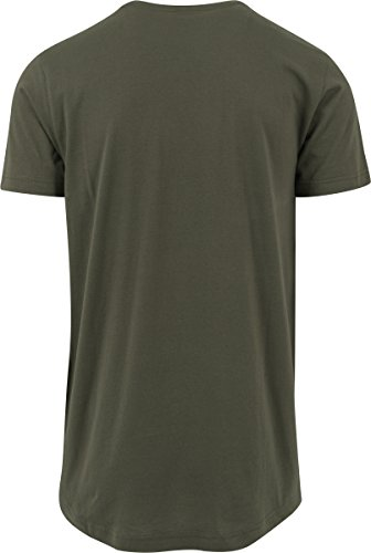 Urban Classics Herren T-Shirt Shaped Long Tee Grün (Olive 176)