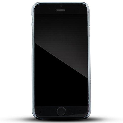 Zooky® Schwarz Regentropfen Kunststoff Schutzhülle / Hülle / Cover für Apple iPhone 6 6S (NICHT iPhone 6 Plus) Schwarz