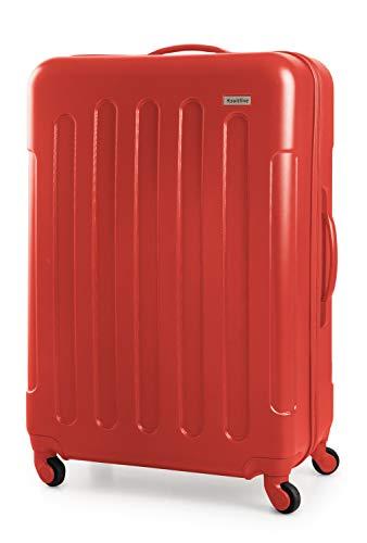 Suitline S3 - Valigia stiva di grandi dimensioni, dura ABS, 4 ruote, 77 cm, 93 L, Rosso