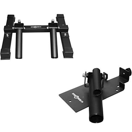 Sporttrend 24 | T-Bar Ruder Plattform in schwarz für 30 und 50mm Hantelstangen | Core Trainer Langhanteltrainer (T-Bar | 30 und 50mm)