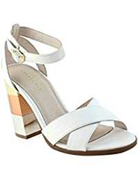 3c2051f8d51 London Rag Mid- Heeled Women s Sandals White