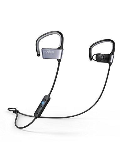 Soundcore Arc Bluetooth Kopfhörer von Anker, Bluetooth 4.1 Kabellose Sport Kopfhörer mit IPX5 Wasserdichte/ 10 Stunden Akkulaufzeit/ anpassbaren EarHooks, für Trainings, Joggen, Fitnessstudio und mehr