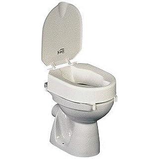 Toilettensitzerhöhung m. Klammern+Deckel