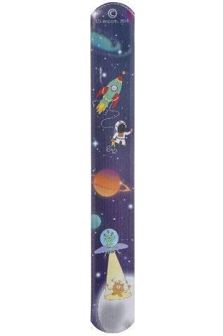 Partynelly 12x Klatscharmband Weltraum Astronaut | Schnapparmband | Armband Mitgebsel Weltraumparty Kindergeburtstag