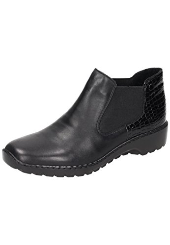 Rieker Damen L6090 Chelsea Boots Schwarz (Schwarz/Nero)