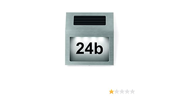Easymaxx Solar Hausnummer Mit Edelstahl Gehäuse Neu