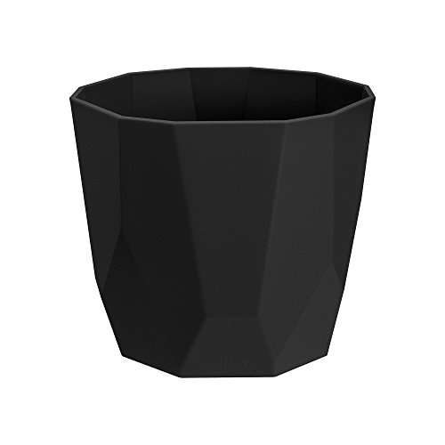 elho pot de fleurs - b.for rock 18cm living noir -  18 x 18.6 x 16.5...