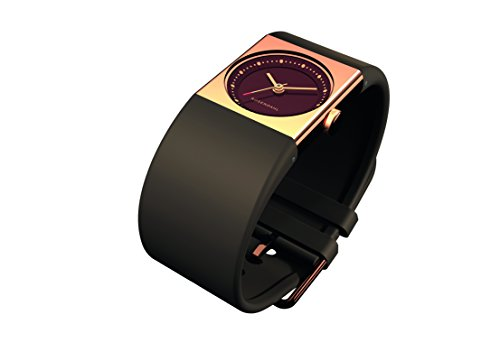 Rosendahl Ladies Watch IV 43264 with Brown Dial Rose Gold Plated Case and Green Polyurathane Strap