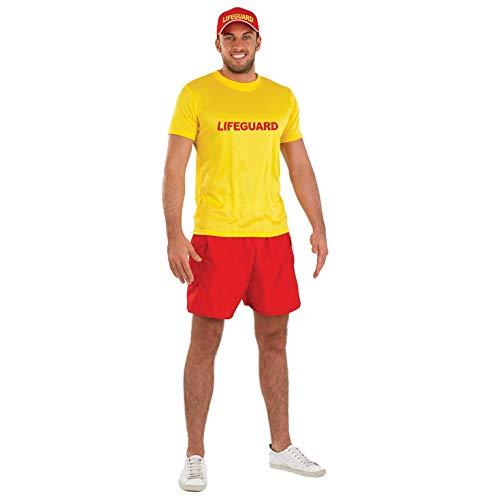 Fun Shack Gelbes Bademeister Kostüm für Herren - L