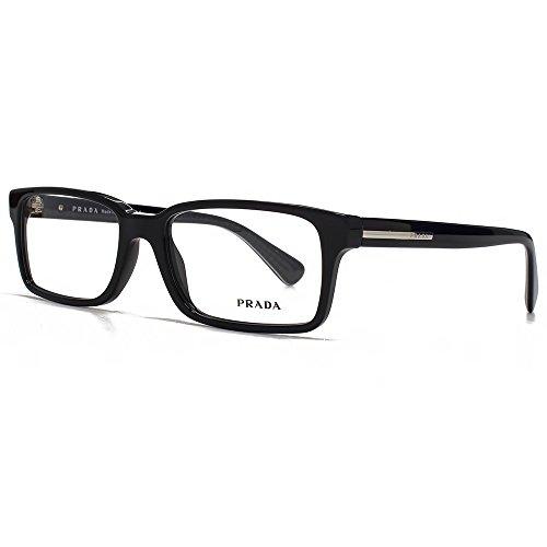 Prada Für Mann 15q Black Kunststoffgestell Brillen, 54mm Prada Brillengestelle Männer